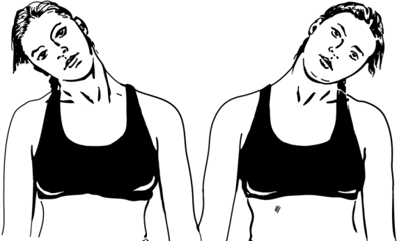 Наклоны головы - вправо и влево
